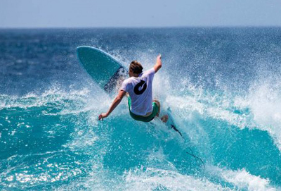 Fish surfboard shape are the ability to catch waves easily